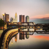 Georgeous capture of Columbus on the river