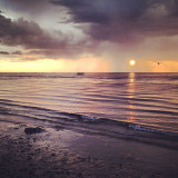 Storm Blows Over Cape Cod Bay At Sunset. Crosby's Landing, Brewster, Cape Cod, Massachusetts