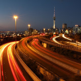 Auckland's motor way during rush hour.