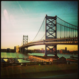One of the most iconic structures in Philadelphia - the Ben Franklin Bridge.