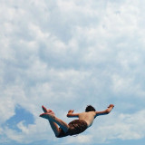 Superman bellyflop!