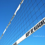 Manhattan Beach in Los Angeles, California is the home of beach volleyball.  This vibrant abstract of the volleyball net is simple and conveys the energy of beach volleyball without the use of models.