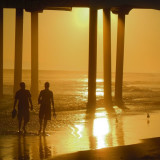 Huntington Beach at sunset.....love this time of day for photos