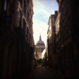 Beautiful view up to St Paul's Cathedral