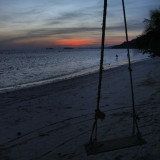 Sunset beach, Haad Rin, Koh Phangan, Thailand.