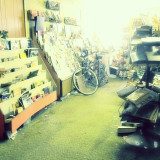 A photo from inside an old bookstore in Paris, Texas.