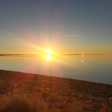 Sunset over the Great Salt Lake.