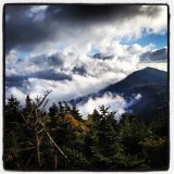 I was on top of Mt Mitchell and saw these clouds rolling up the side of the next peak.