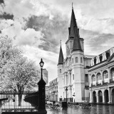 #NOLA at Christmas time. I call this image the kneeling place. It's the the St. Louis Cathedral in New Orleans.