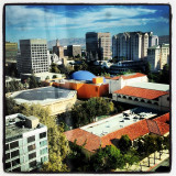 The view of downtown San Jose from the Hilton San Jose