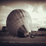 People prepare the hot air balloon for the festival in Hualien town.  what a great day it was .  #hotairballoons. #sepia #oldschool