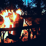 Listening to the @rendcollective Campfire album on this perfect fall night. Sweaters, a fire , and good people. #rendcollective #campfire #beautiful #music #fire #smores