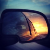 Side view mirror sunset #avalanche #chevy