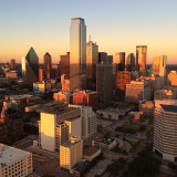 Dallas at golden hour.
