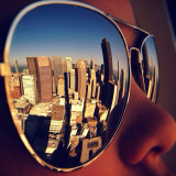 A city reflected.