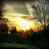 Memories, I hope that you remember me.. #Sunset #Sky #Trees #Clouds #Cars #Houses