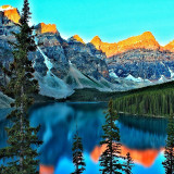 Early morning at moraine lake. Got up at 4:30 and it was freezing!!