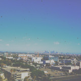 • the city of angels is calling me home. Taken with my old iPhone 3gs, sorry for the black dots;