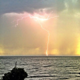 Snapped this shot during a #summer #storm #sunshinecoast #lightning #thunder #westcoast #vancouver #gibsons