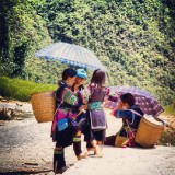 Women of the tribe of Black Hmong