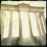 Oh My Gods!  Temple of Saturn, Rome #rome #italy #ruins #roman_forum #temple #columns