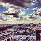 View from the Ritz Carlton roof, Moscow, August 2013