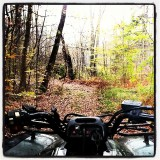 The perfect way to spend a fall day. Finally able to off road again. <3 #FourWheeler #Ranger #OffRoad #Trail #Fall #Finally