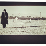 Found some old black and whites I took back in high school a million years ago. #desert #cemetery#trenchcoat #maninblack #whitetie #creepy #blackandwhite #bw