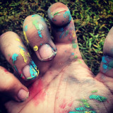 Paint on hand