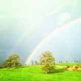 A double rainbow on a ring day in the Yorkshire Dales.