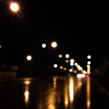 Street lights at night