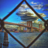 The Brooklyn Bridge, framed inside a chain-linked fence. I'm playing around with the updated #snapseed app and really like the HDR feature they've added. Apps used:1.) #avgcampro to capture2.) #snapseed to add HDR, adjust tones and saturation 3.) #vscocam to add filter4.) #mybrain for creativity5.) #myfinger to translate mybrain's instructions