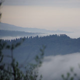The  mountaineous Tuscany landscape with  fantastic views and welcoming open nature.