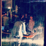 Trizio spinning records @ Zampera's & Oracle's birthday bash, party people love to get down
