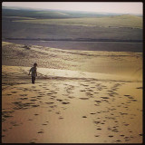 He walks a long and lonely road :)