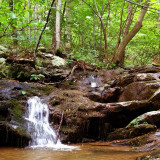 Great day for a day hike in the Blue Ridge Mountains of Western Loudoun & Eastern Clarke Counties in Virginia.  About a 20 minute drive from my home. Short 5 mile out and back hike mostly on the Appalachian Trail with a short side trip up to Hollow Brook Falls.  This is a small mountain stream with a series of falls, this is one of the smaller falls.  The stream here is always low this time is year unless its rained good in the last day or two. It's much larger in spring from snowmelt and rains. #blueridg
