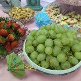 Some food items at my grandmother's 90th birthday party!