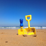 Dig for summer gold. Taken at Wye River Beach, Great Ocean Road, Victoria, Australia.