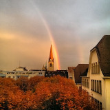 My grandma died at this day, I was really sad about it and when I watch out the window I saw this beautyful rainbow and I thought if this is perhaps a sign from heaven