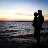 Along the St. Lawrence River there is beauty all around.  This is a moment in time, caught on camera, between my husband and my youngest son.