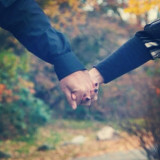 True love starts with holding hands...