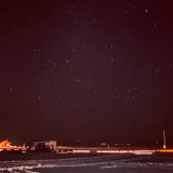 A nighttime picture taken of the stars. This was a 25 second exposure taken around 12 a.m.