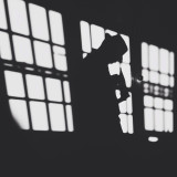 Silhouetted man