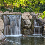 Waterfall at Japanese garden in Phoenix