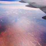 Flying over the outback, Australia