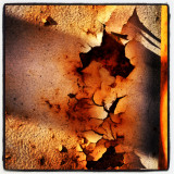 Abstract pattern of decay ship