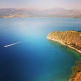 The beautiful landscape and ocean of Nafplion, Greece