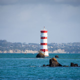 The lighthouse near Rangitoto island.