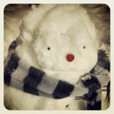 My Son makes snowmen that are pretty unique. This one looks human like.