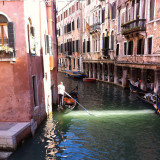 Buildings by a canal in Venice,  Italy